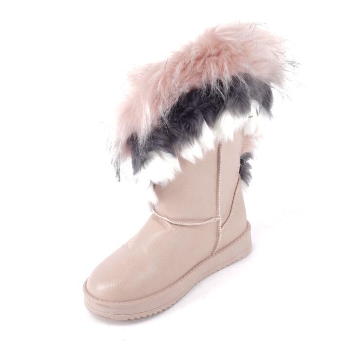 Női Rózsaszín Színű Műbőr Csizma - HÓTAPOSÓK - Női cipő webáruház ... 74b7ee0f28