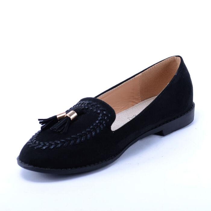 Női Fekete Művelúr Félcipő - BALERINA CIPŐK - Női cipő webáruház-női ... 7f6da75bdb