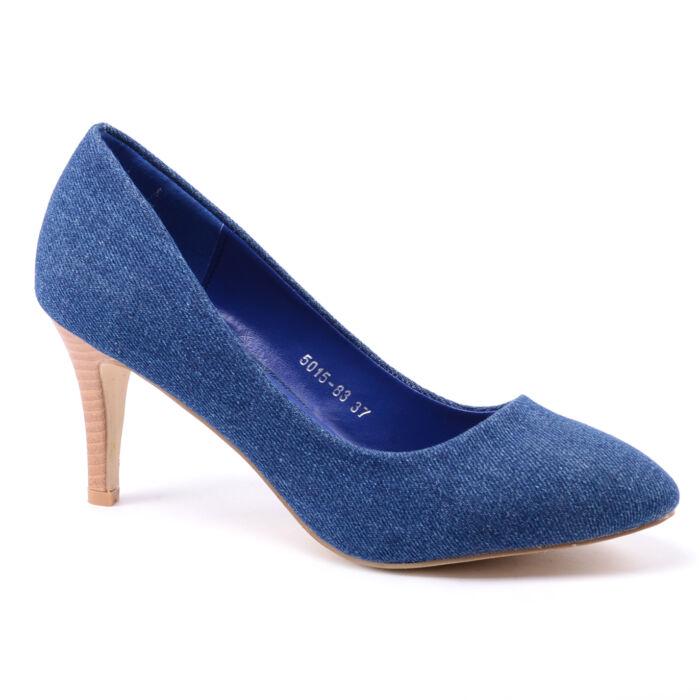 Női Farmer Anyagú Törpesarkú - ALKALMI CIPŐK - Női cipő webáruház ... 7807903f2c