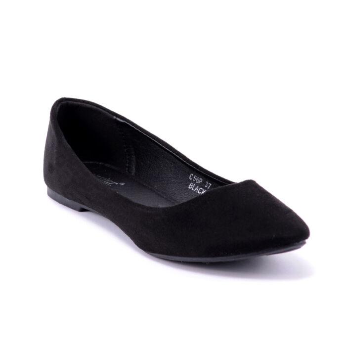 Női Fekete Művelúr Balerinacipő - BALERINA CIPŐK - Női cipő ... 0d07b9982e