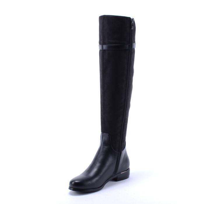 Női Fekete Színű Műbőr Téli Csizma - MAGASSZÁRÚ CSIZMÁK - Női cipő ... 434c48bb24
