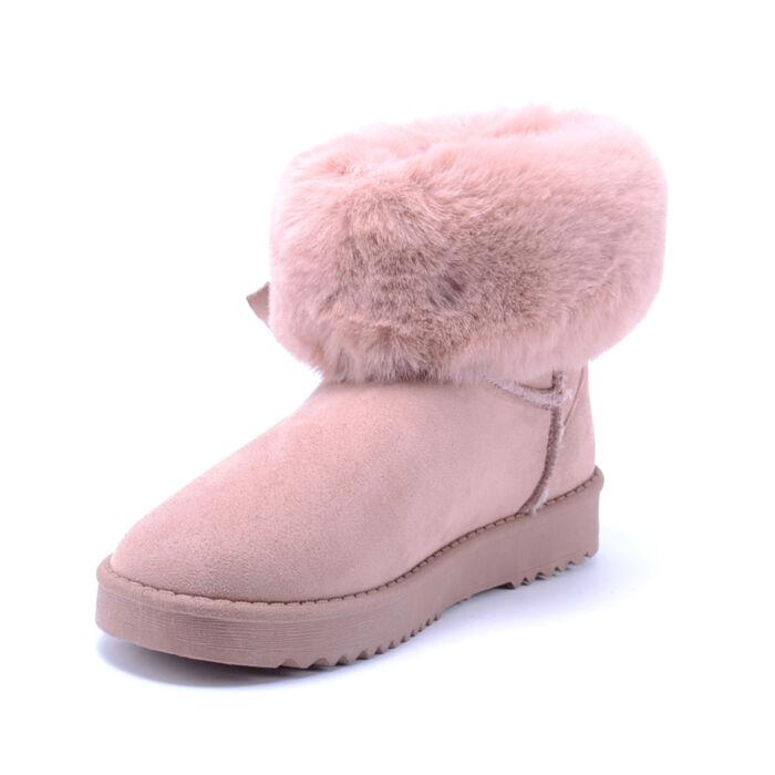 Női Rózsaszín Művelúr Csizma - HÓTAPOSÓK - Női cipő webáruház-női ... 722f95a710