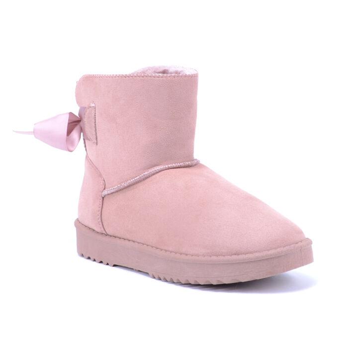 Női Rózsaszín Művelúr Csizma - HÓTAPOSÓK - Női cipő webáruház-női ... 4a47fe869a