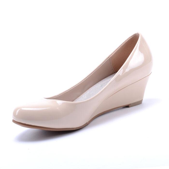 Női Bézs Lakk Törpesarkú - ALKALMI CIPŐK - Női cipő webáruház-női ... 574d488862
