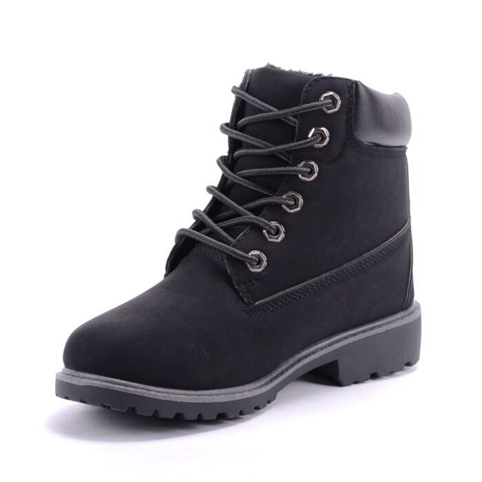 Női Fekete Szintetikus Bakancs - BAKANCSOK - Női cipő webáruház-női ... 0aef80d307