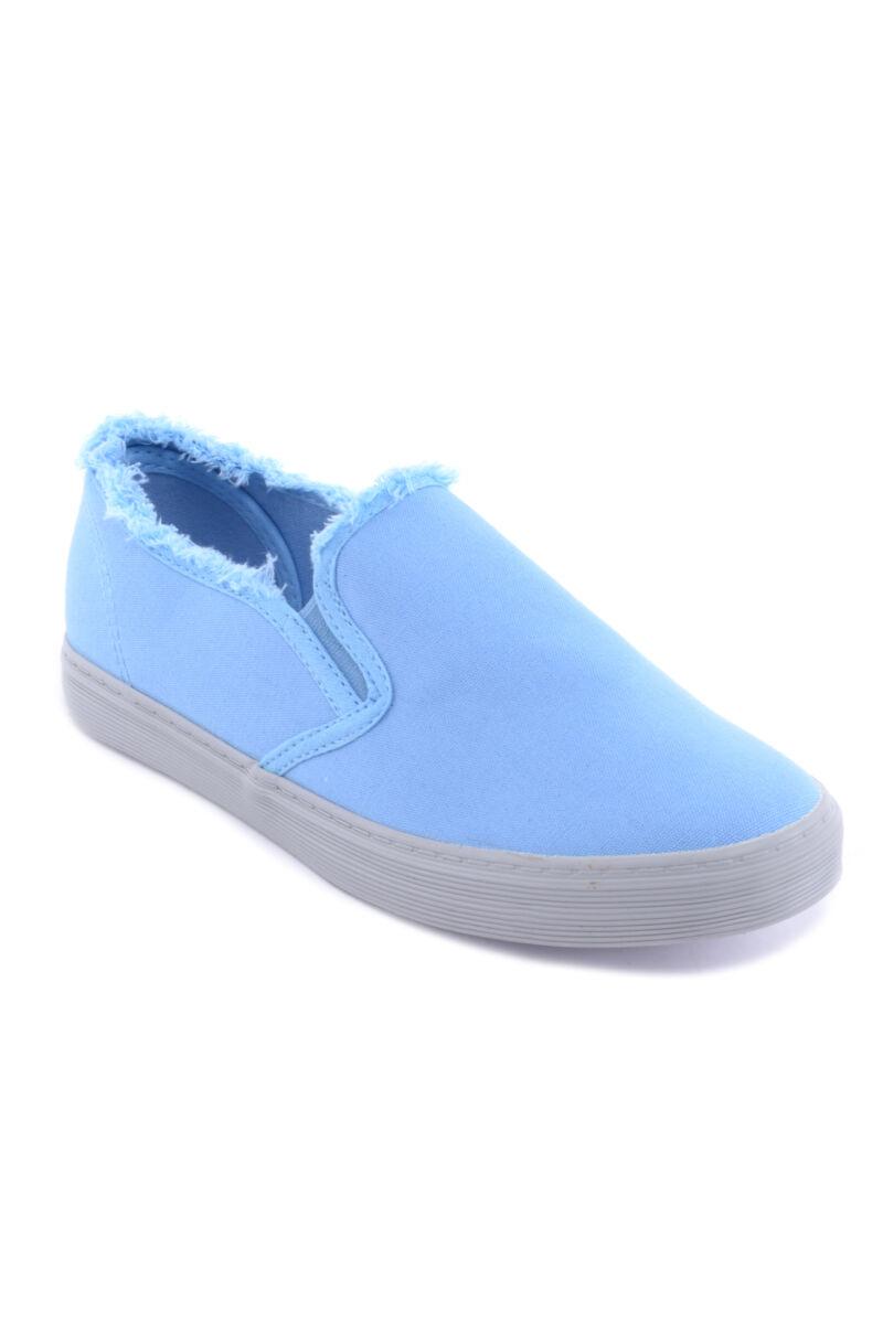 Kék Női Szövet Slip-On
