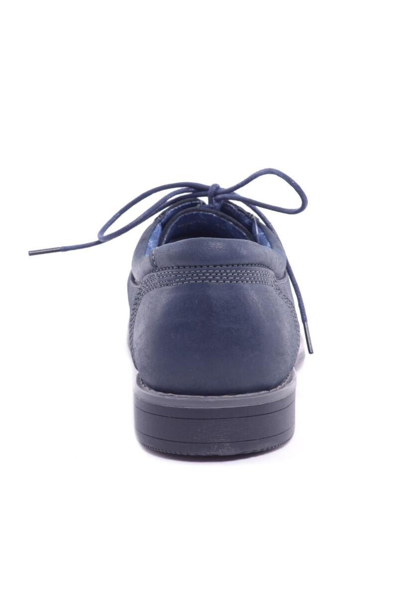Sötétkék Férfi Valódi Bőr Alkalmi Cipő