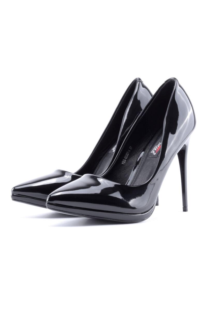 Női Fekete Lakk Magassarkú Cipő