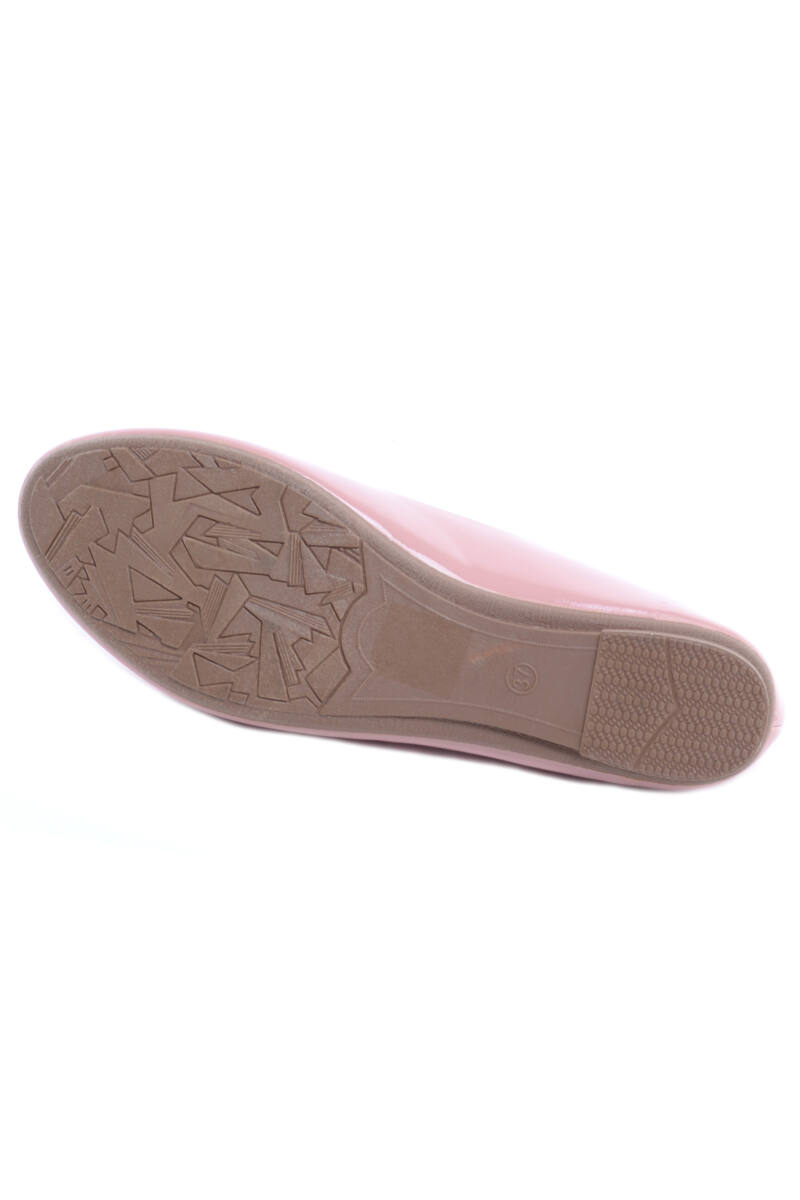 Fehér Női Lakk Balerina Cipő