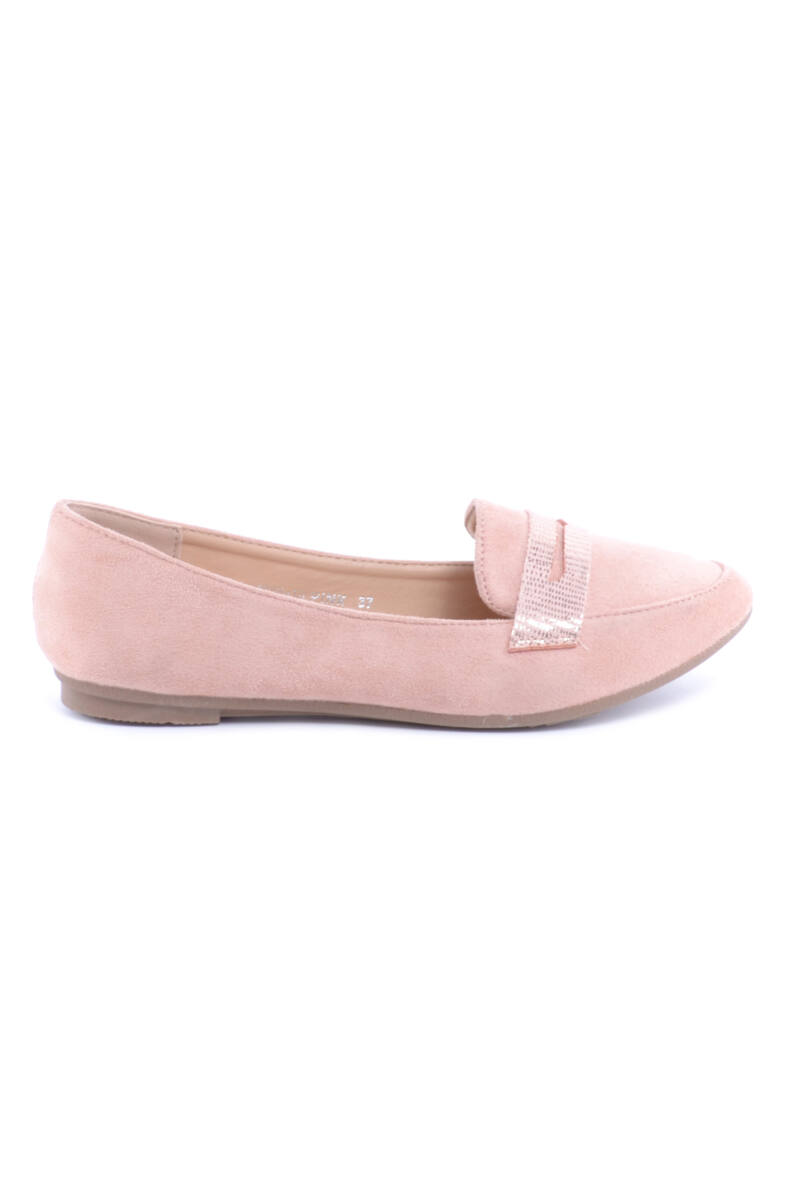 Rózsaszín Női Művelúr Balerina Cipő