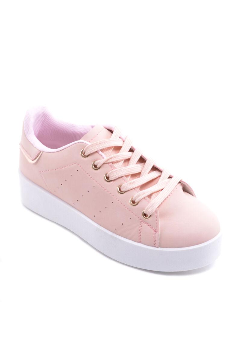 női műbőr fécipő rózsaszín