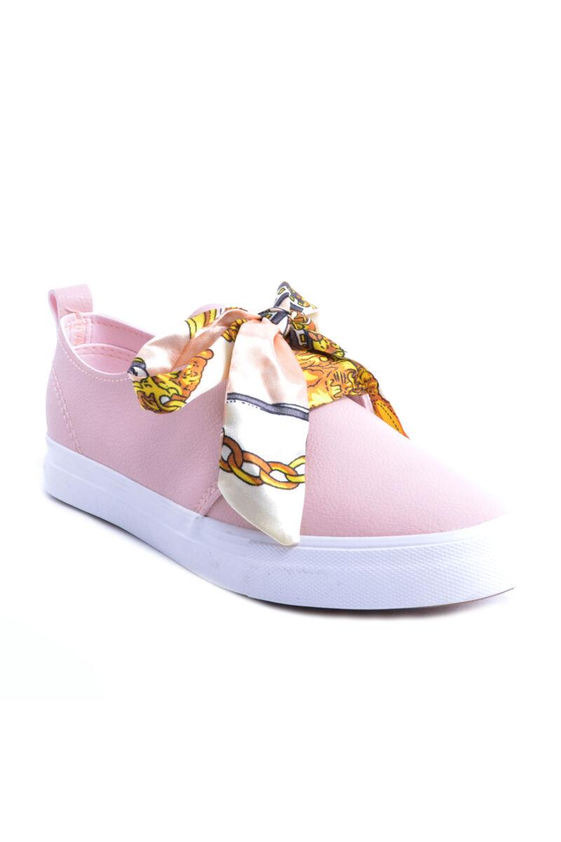 női műbőr utcai cipő rózsaszín