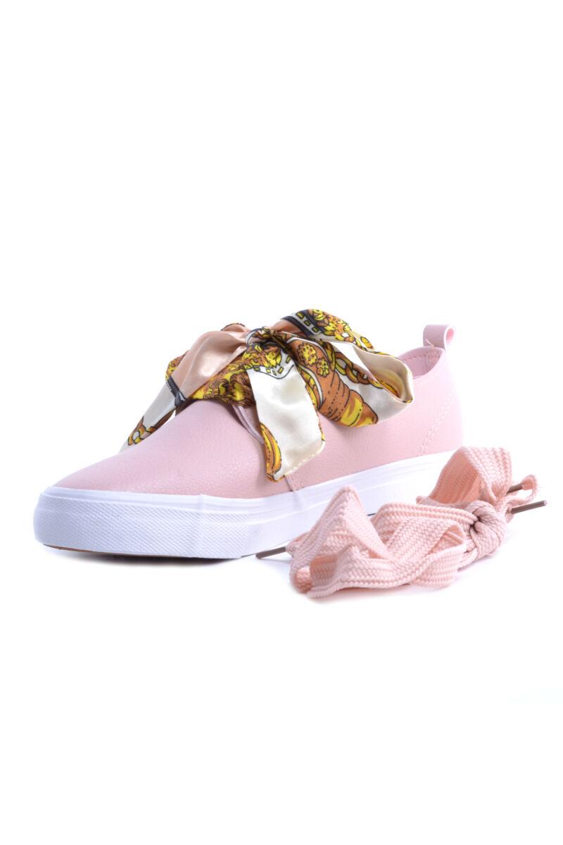 Női Rózsaszín Műbőr Félcipő