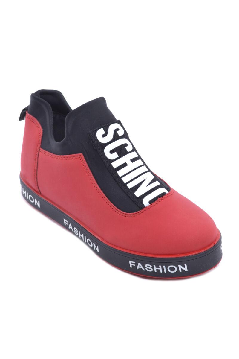 Piros Női Művelúr Utcai Cipő