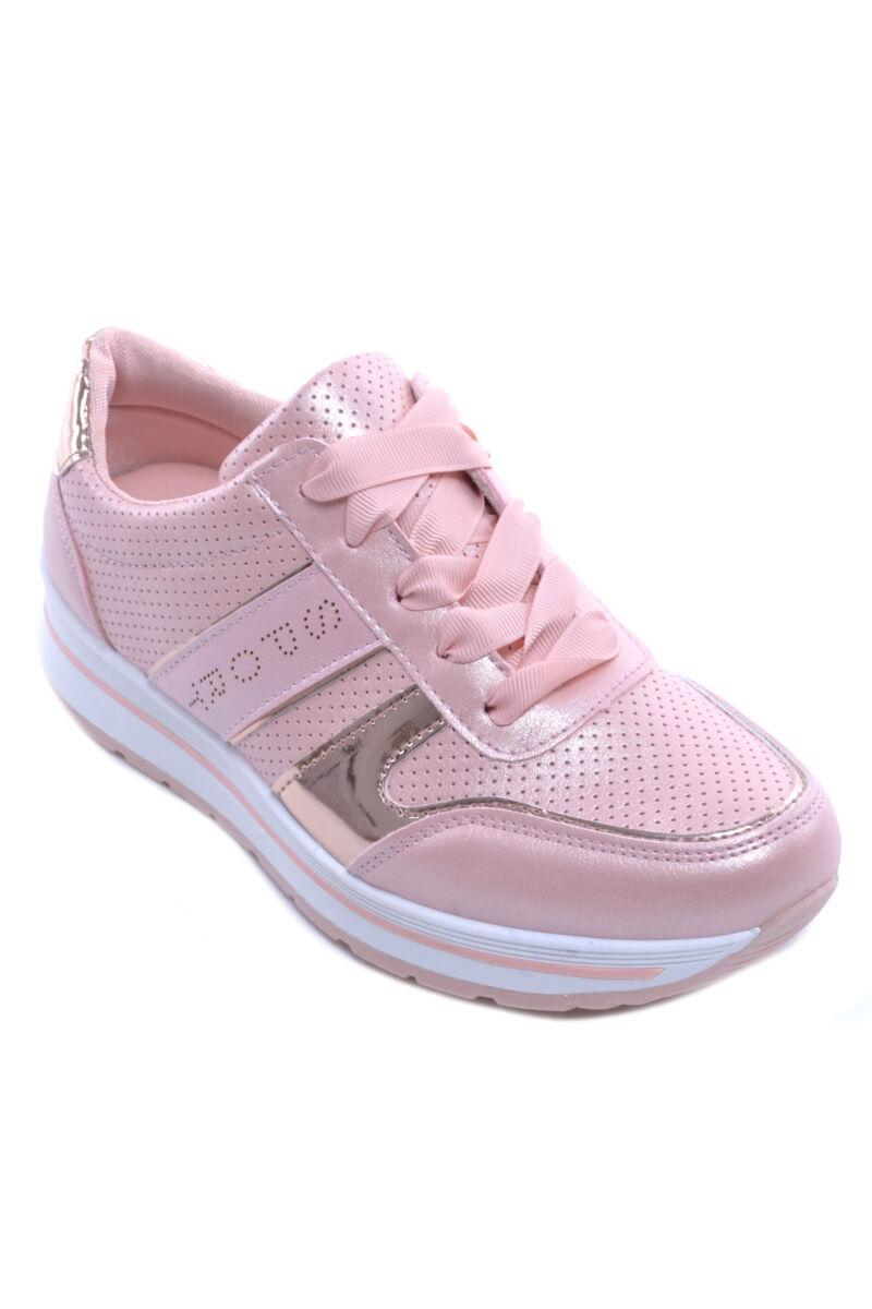 Rózsaszín Női Műbőr Utcai Cipő