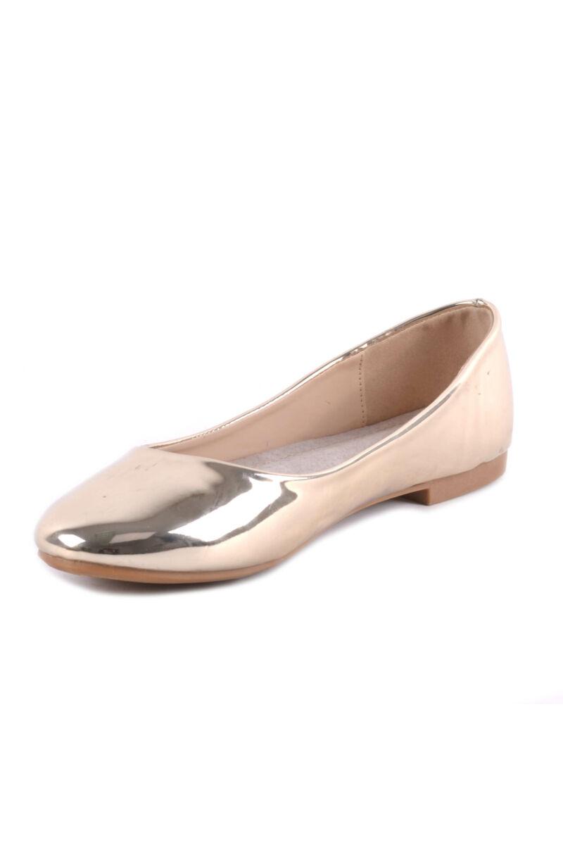 Női Lakk Balerina Cipő Arany Színben