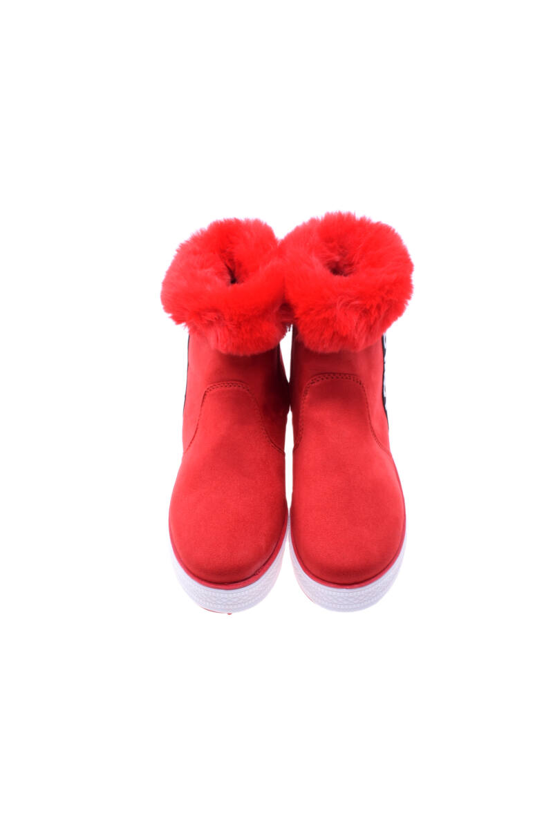 Női Piros Művelúr Bélelt Csizma