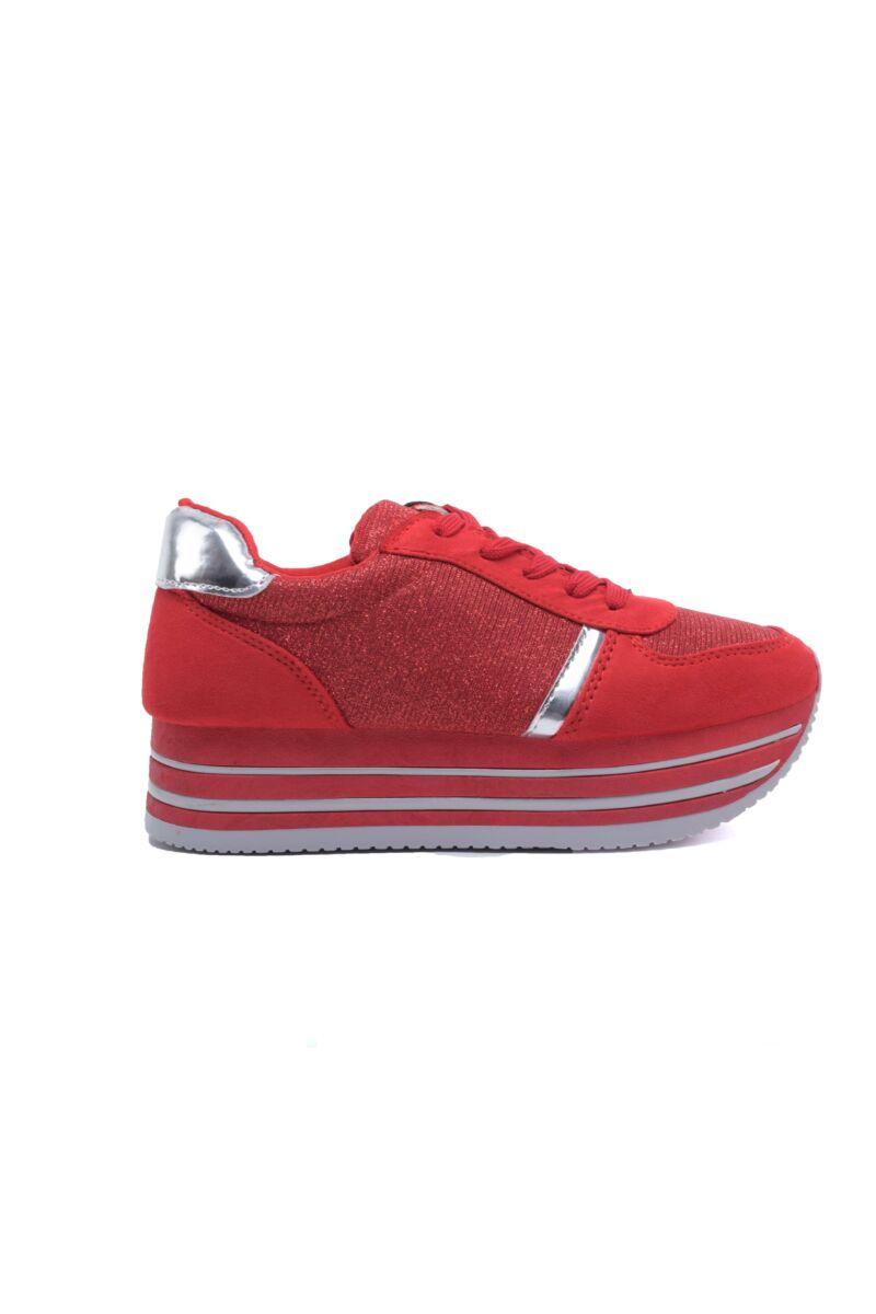 Piros Magastalpú Női Sportcipő