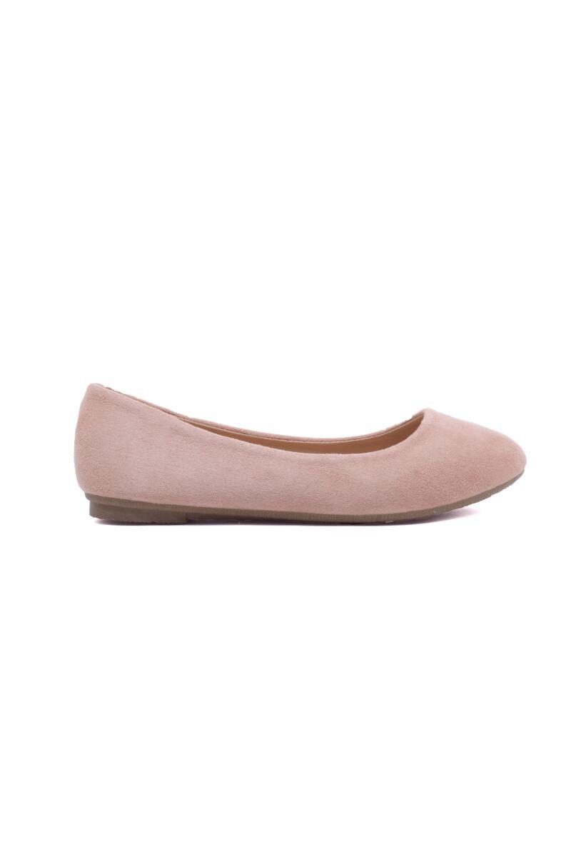 Női Rózsaszín Művelúr Balerina Cipő