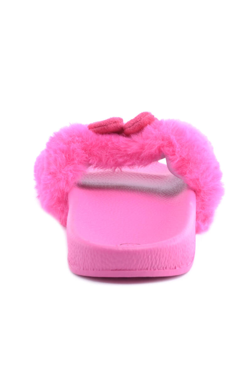 Női Szőrmés Papucs Pink