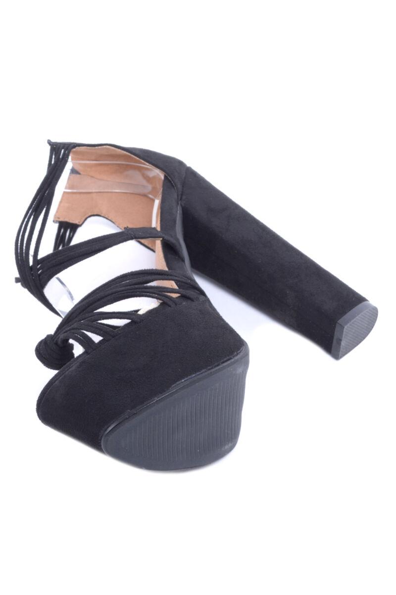 Női Magassarkú Cipő fekete