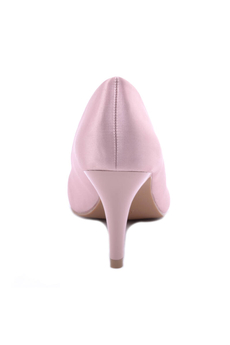 Női Műszálas Magassarkú Cipő Rózsaszín