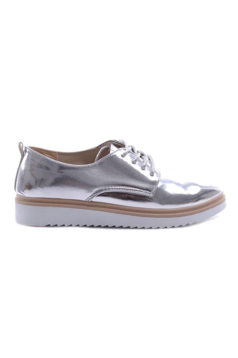 Női Műbőr Félcipő Cipő Ezüst