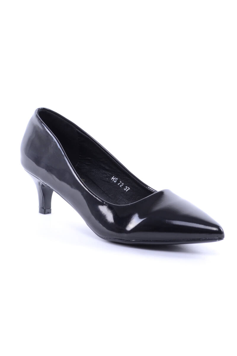 Női Lakk Magassarkú Cipő Fekete