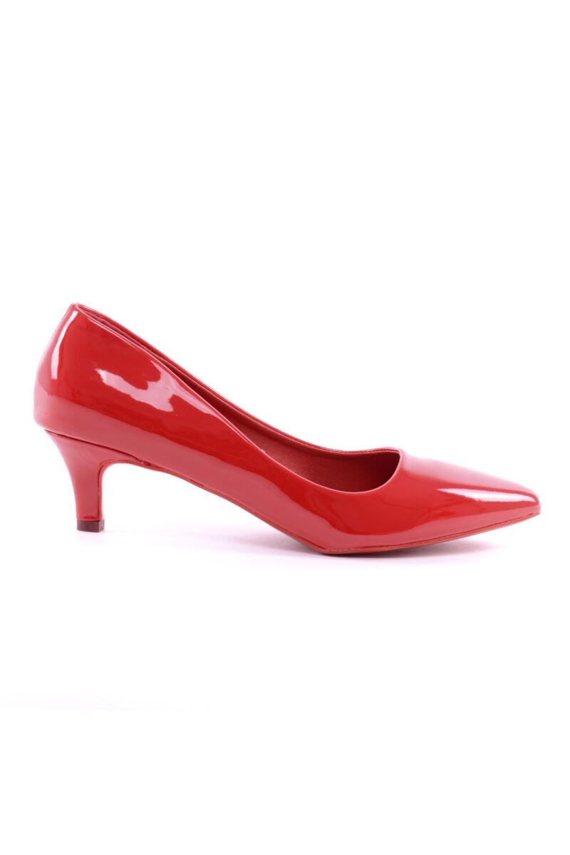 Női Lakk Magassarkú Cipő Piros