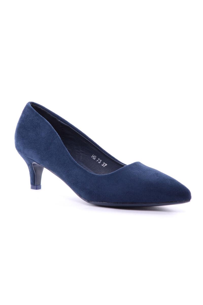 Női Művelúr Magassarkú Cipő Kék