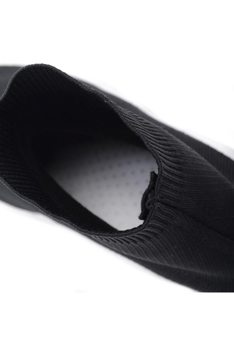Női Gumis Poliészter Sportcipő Fekete