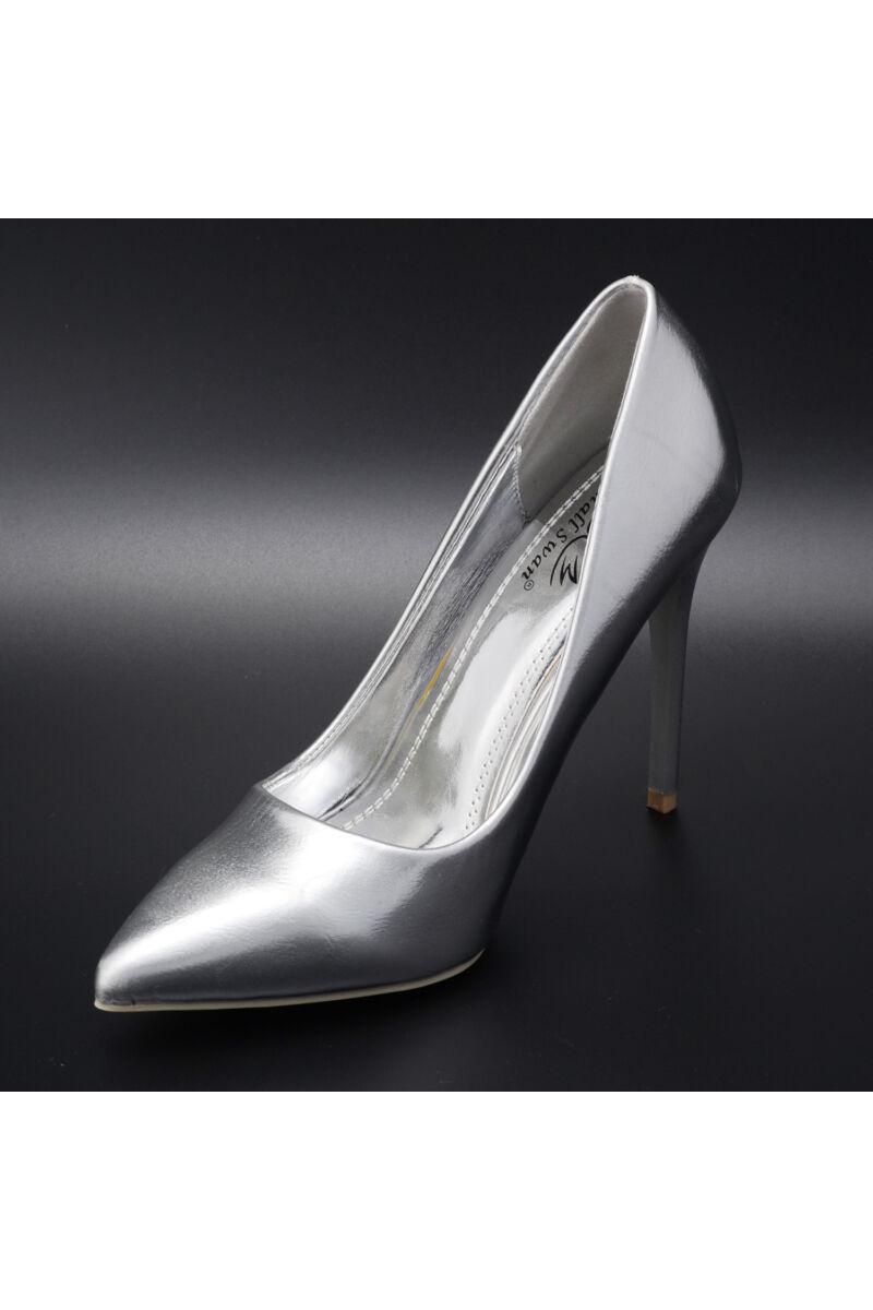 Ezüst Lakk Magassarkú Cipő