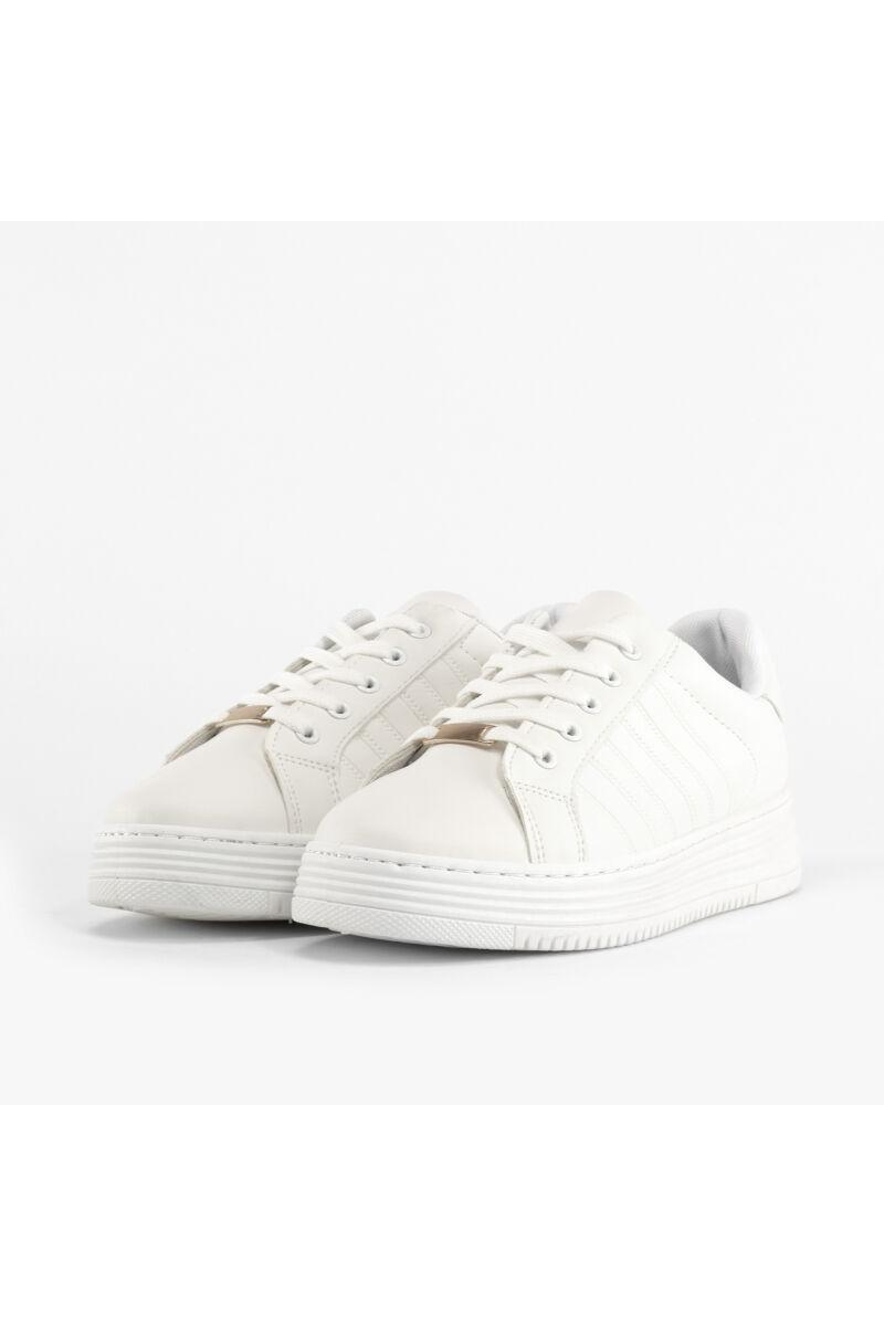 Fehér Női Műbőr Utcai Cipő