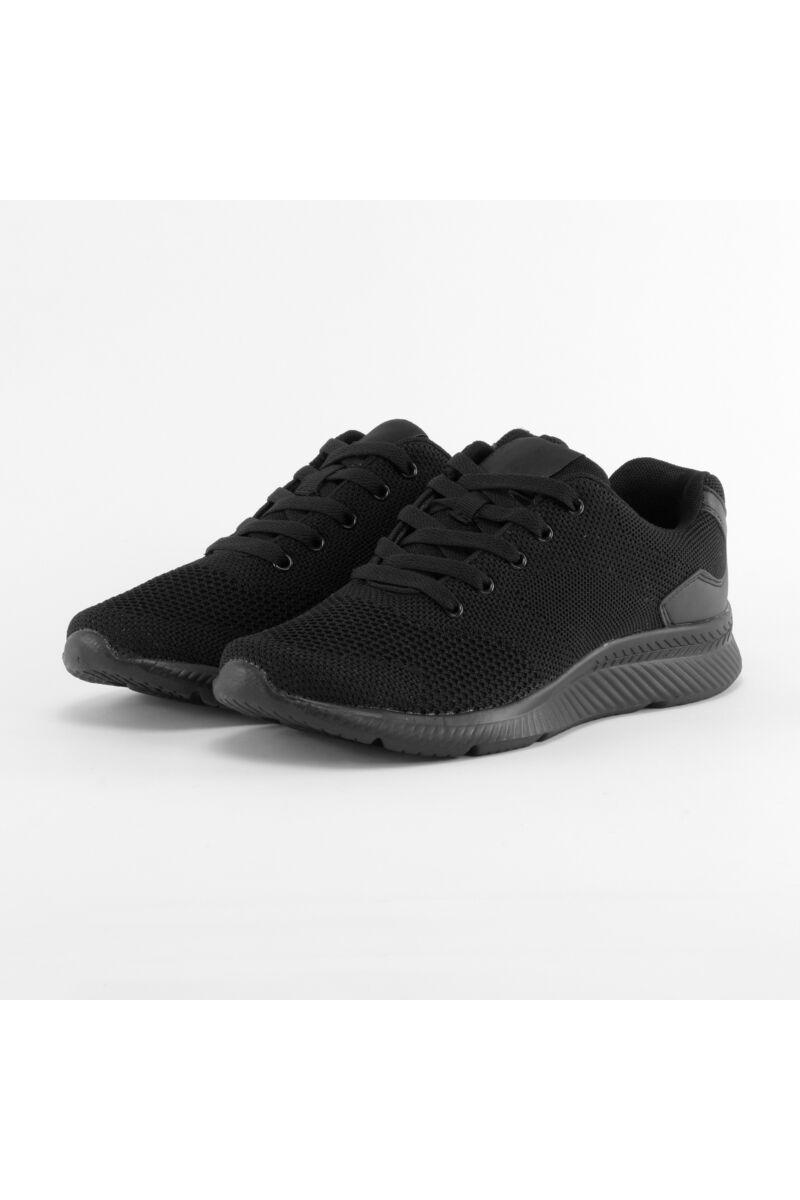 fekete férfi poliészter sportcipő