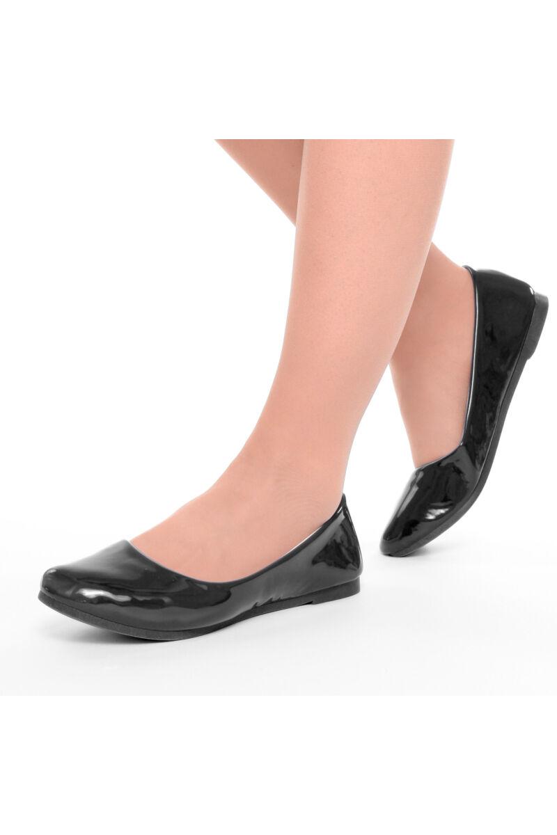 Női Fekete Lakk Balerina Cipő