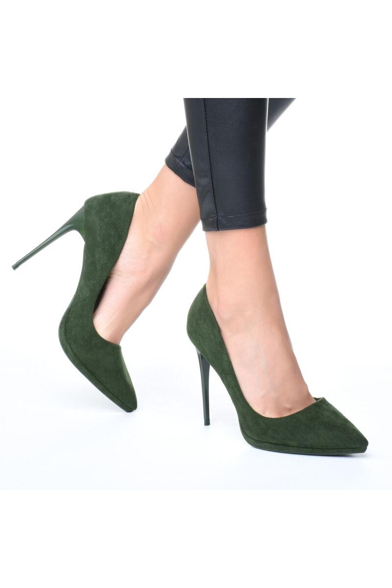Női Oliva Művelúr Magassarkú Cipő