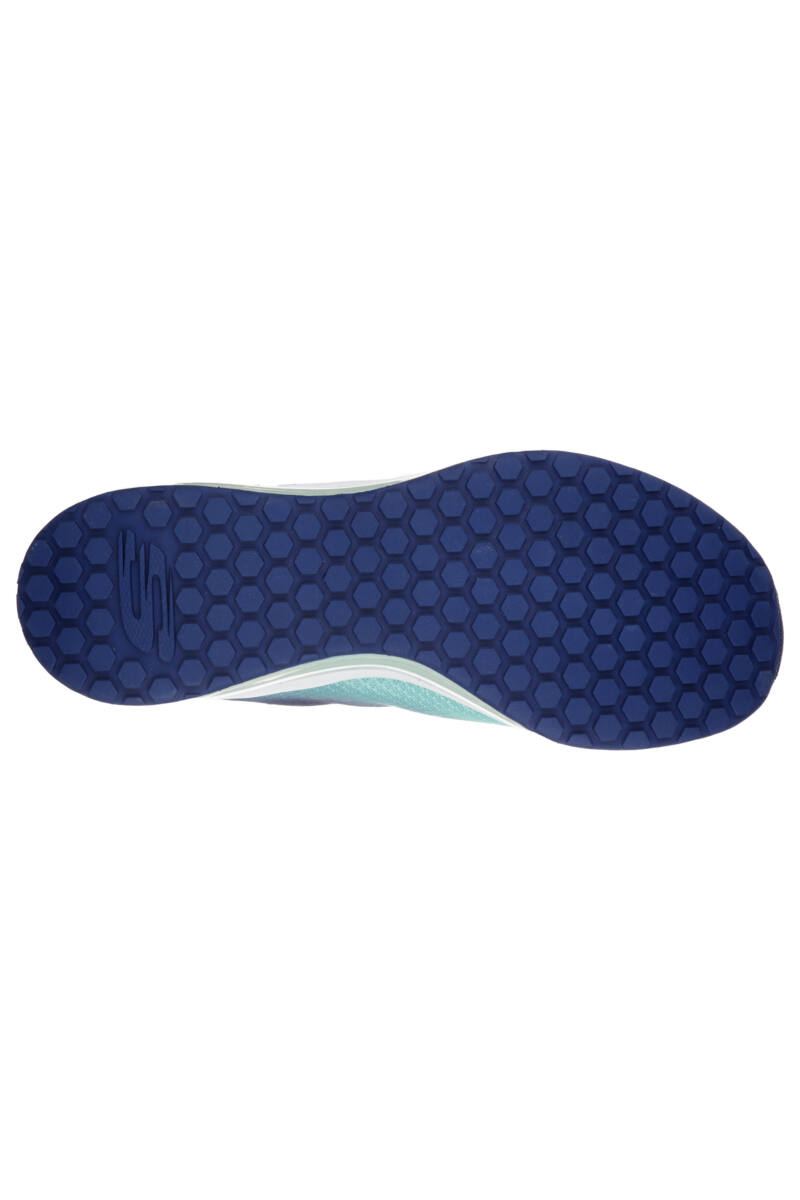 Skechers Női Kék Szintetikus Sportcipő