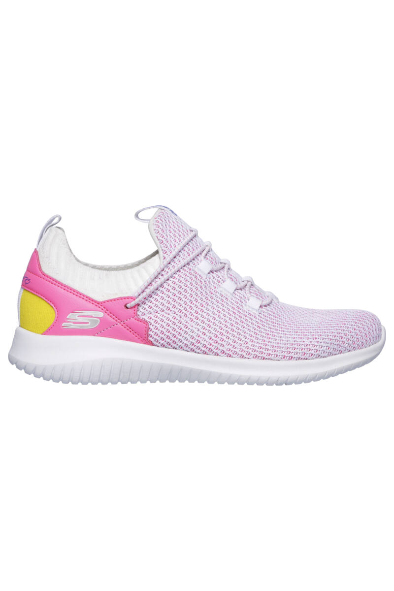 Skechers Női Rózsaszín Szintetikus Sportcipő