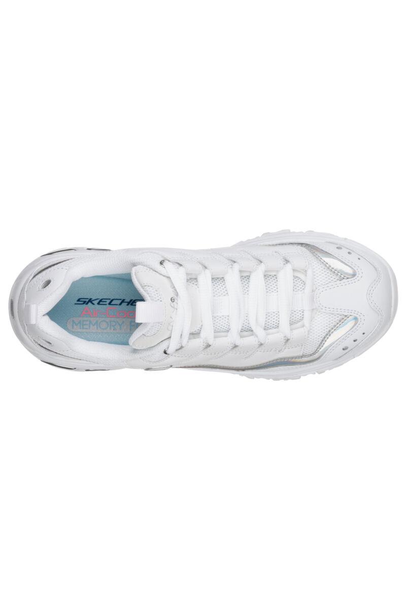 Skechers Női Fehér Szintetikus Sportcipő