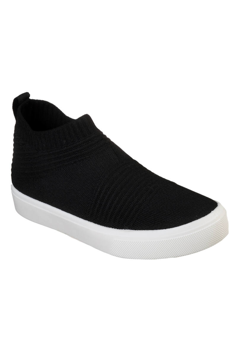 Skechers Női Fekete Belebújós Szintetikus Cipő
