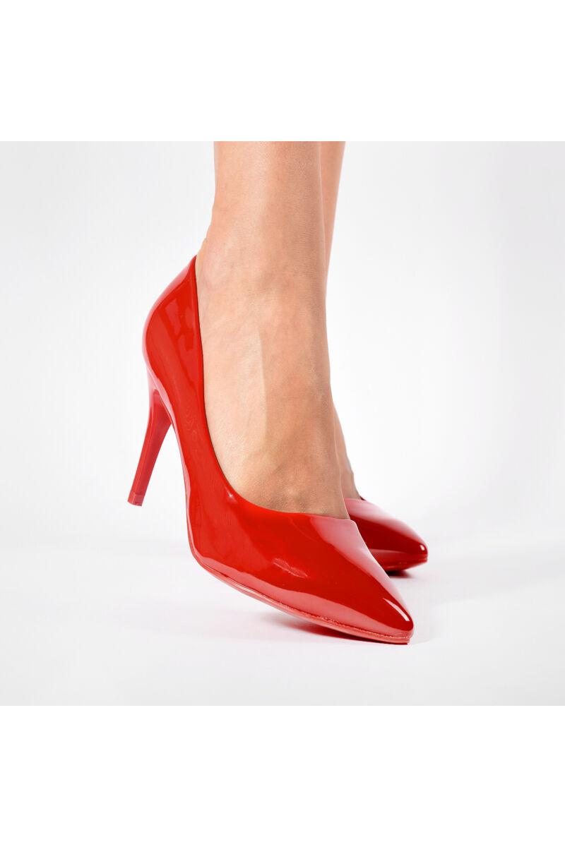Női Piros Lakk Magassarkú