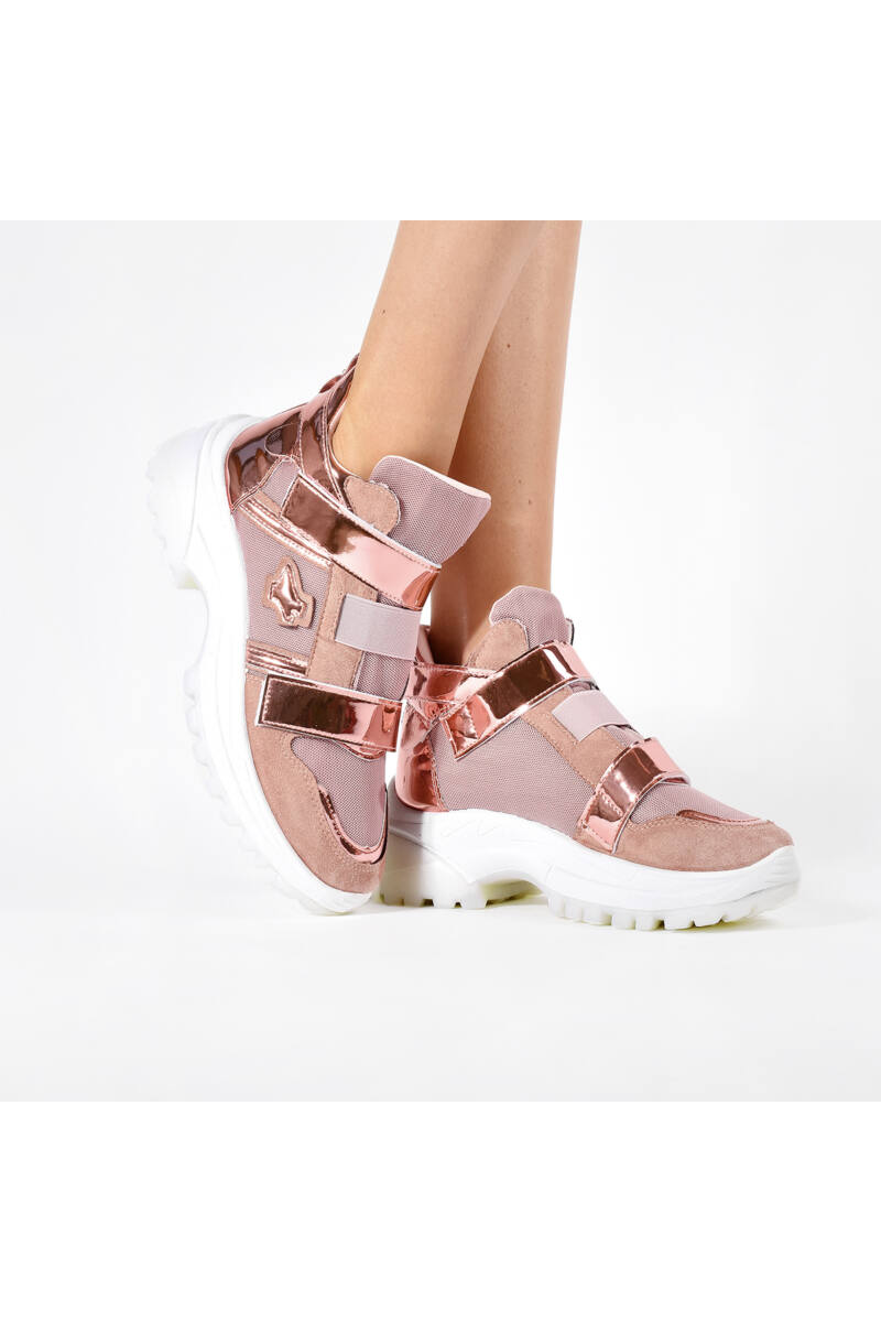 Női Rózsaszín Magastalpú Utcai Cipő