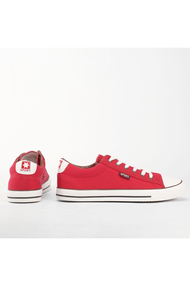 Piros női szövet tornacipő