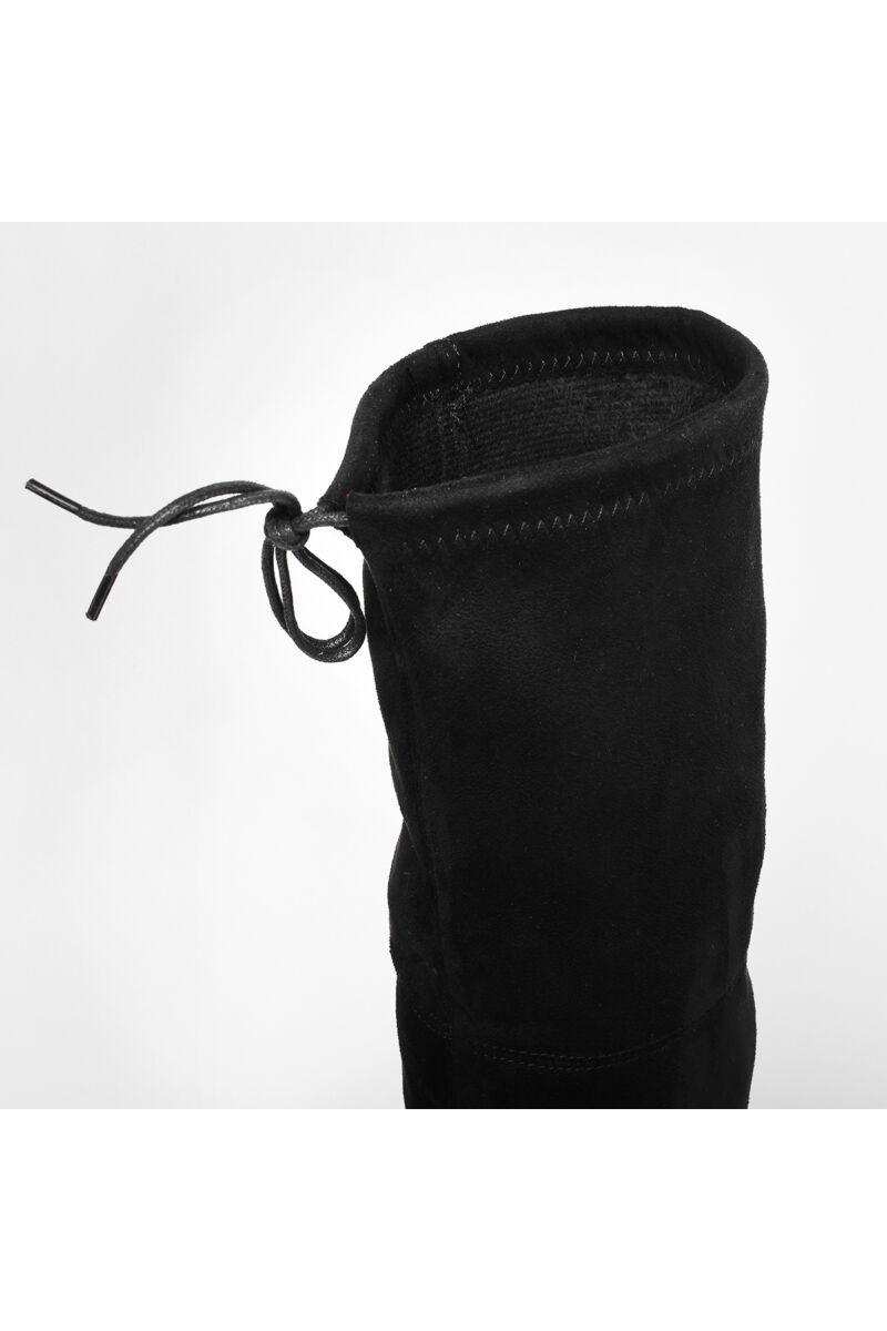 Fekete Női Magasszárú Művelúr Csizma
