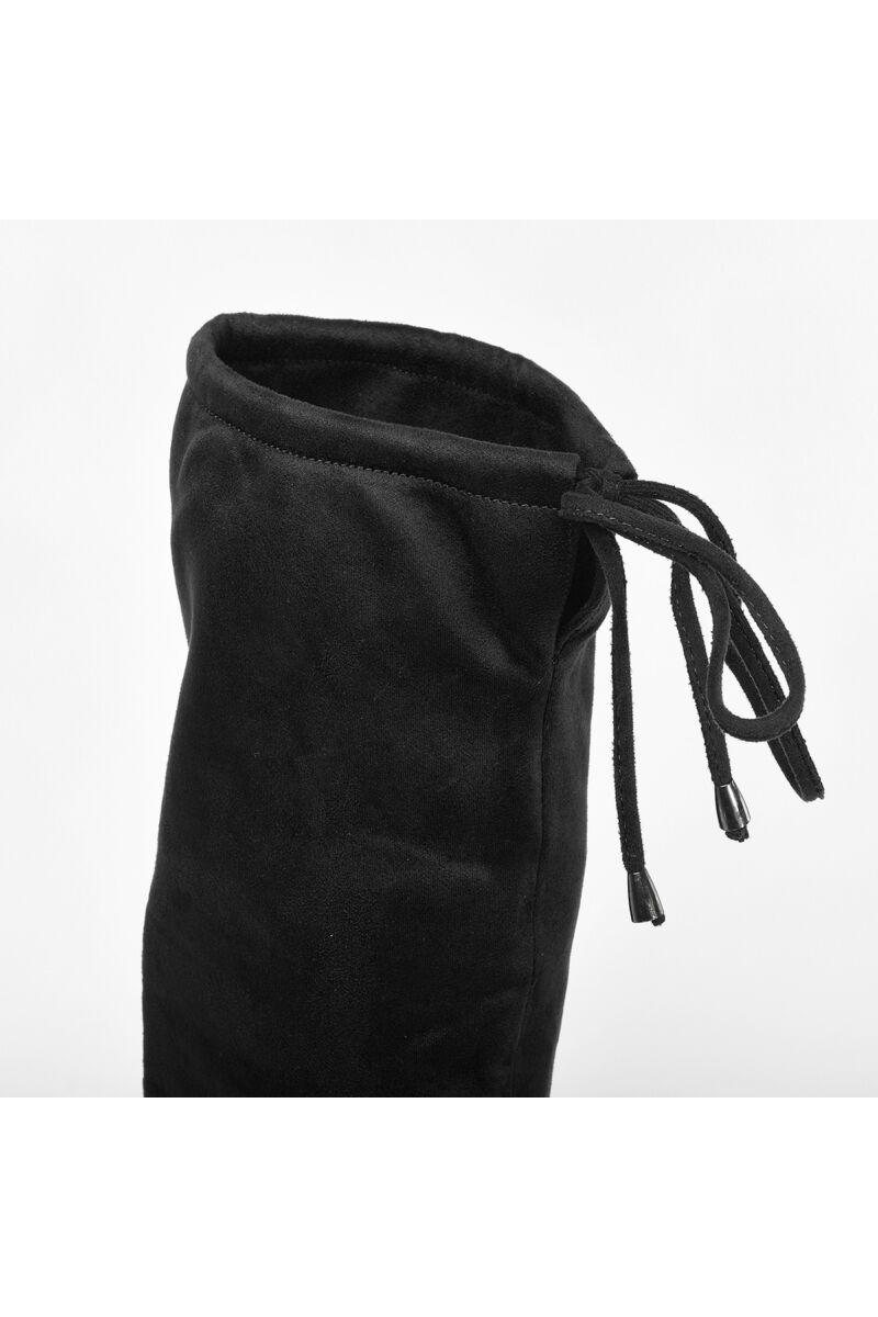 Fekete Magasszárú Bélelt Művelúr Csizma
