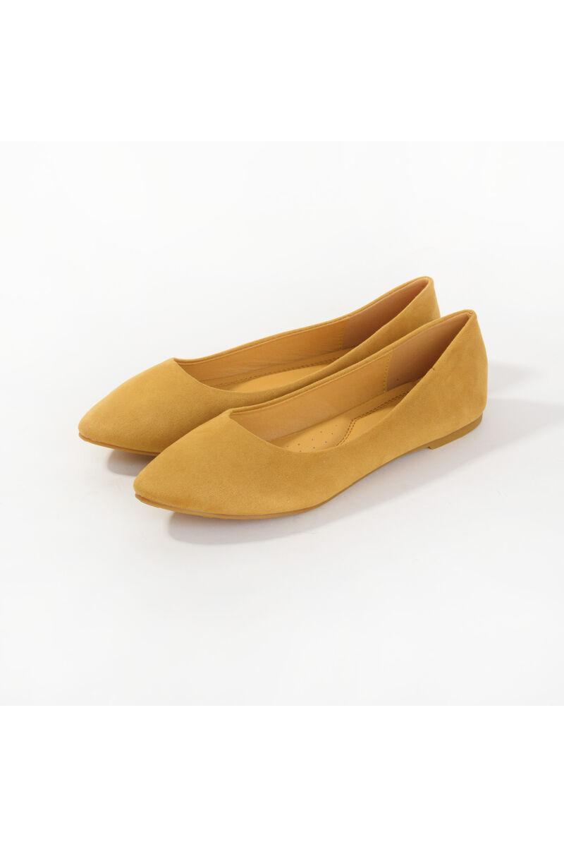 Női Sárga Művelúr Balerinacipő