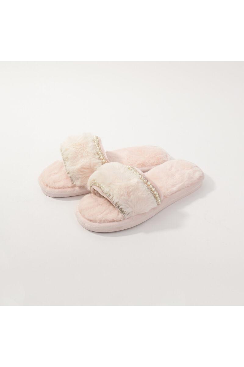 Rózsaszín Gyöngyös Meleg Mamusz Papucs