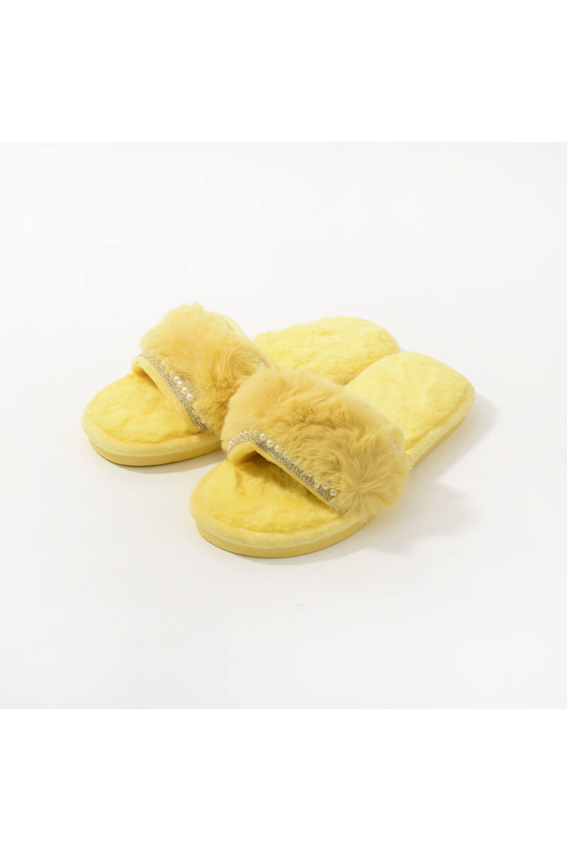 Sárga Gyöngyös Meleg Mamusz Papucs