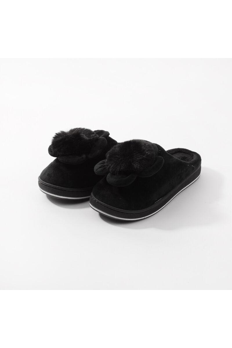 Fekete Virágos Meleg Mamusz