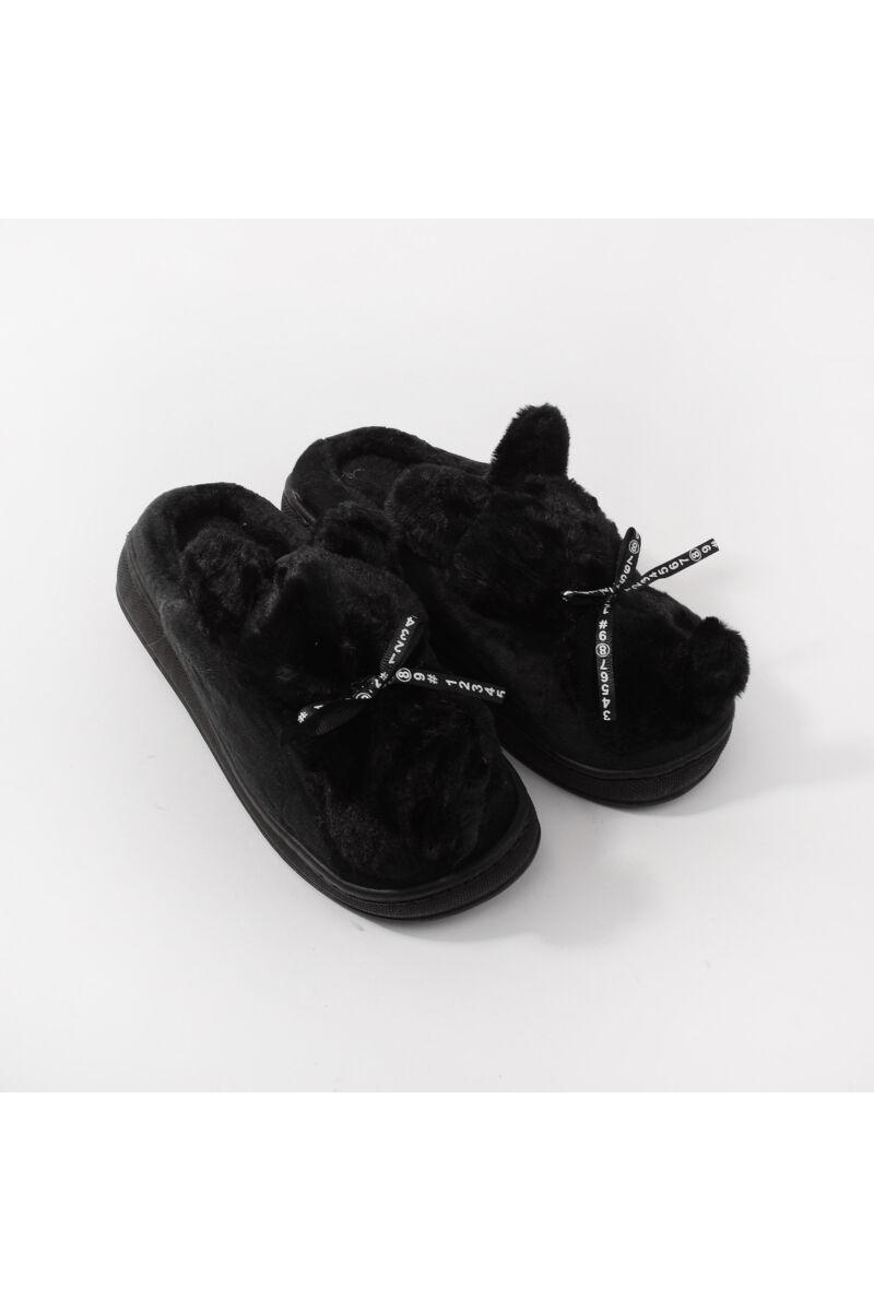 Fekete Masnis Meleg Mamusz Papucs